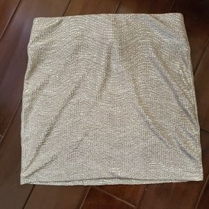 Fun, Gold & Sparkly BCBGeneration Mini Skirt